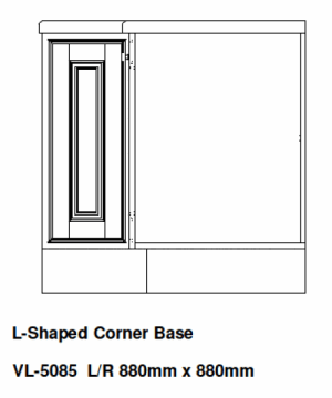 L SHAPED CORNER BASE