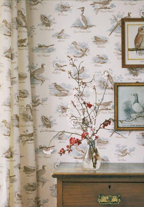Buy Lewis & Wood Bewick Birds Wallpaper online Alexander ...