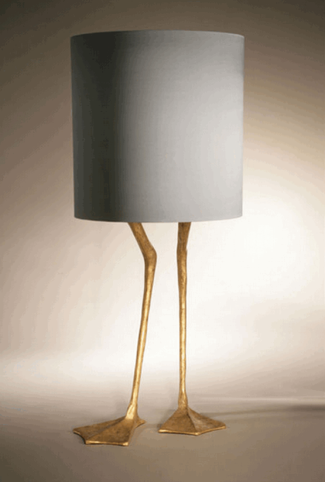 Duck Feet Lamp Porta Romana Wood Brass Silver
