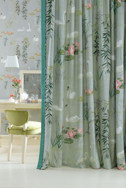 Buy Nina Campbell Sylvana Swan Lake Fabric Online