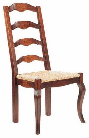 PROVENCAL LADDER BACK CHAIR WITH CABRIOLE LEG