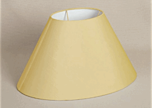 ALEXANDERS OVAL HONEY SILK SHADE