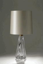 CLEAR GLASS JELLY MOULD TABLE LAMP