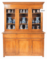 LOUIS PHILIPPE GLAZED BUFFET DRESSER 3DR