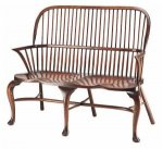 WINDSOR STICK BACK SETTLE - CABRIOLE LEGS