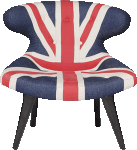 Gund Chair Union Jack Denim