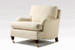 ALEXANDERS HENLEY CUSHION BACK HOWARD STYLE ARMCHAIR