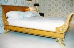 NEO-CLASSICAL EMPIRE SLEIGH BED