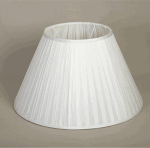 ALEXANDERS FRENCH DRUM ANTUNG LIGHT SILK NARROW PLEAT SHADE